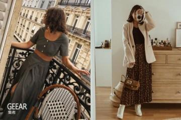 这款休闲裙加靴子正是这个秋季ItGirls的流行穿法