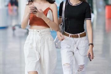 夏日还在穿牛仔裤百搭又显气质的花苞裤莫非不香吗